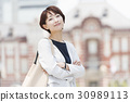 career woman, tokyo station, casual 30989113
