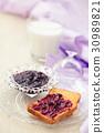 Jam for breakfast. 30989821