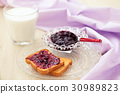 Jam for breakfast. 30989823
