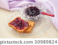 Jam for breakfast. 30989824