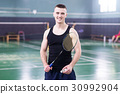 Sportman is playing tennis 30992904