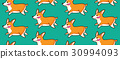 Corgi seamless pattern. Funny background with 30994093