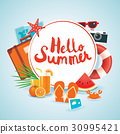 summer, hello, banner 30995421