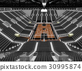 Beautiful modern basketball arena with black seats 30995874