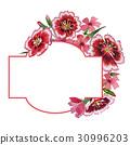 Wildflower carnation flower frame in a watercolor 30996203