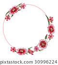 Wildflower carnation flower frame in a watercolor 30996224