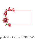 Wildflower carnation flower frame in a watercolor 30996245