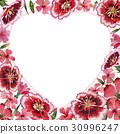 Wildflower carnation flower frame in a watercolor 30996247