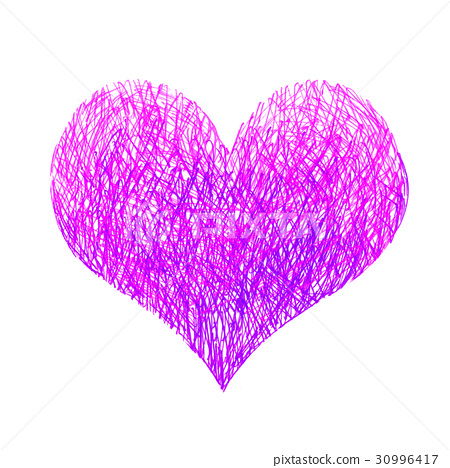Abstract bright pink and lilac heart 30996417