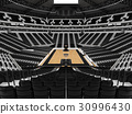 Beautiful modern basketball arena with black seats 30996430