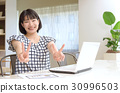 office, lady, working 30996503