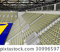 Modern handball arena with olive green seats 30996597