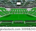 Beautiful modern handball arena with green seats 30998243