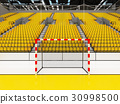 Modern handball arena with bright yellow seats 30998500