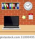 laptop, vector, desk 31000495
