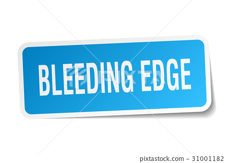 bleeding edge square sticker on white 31001182