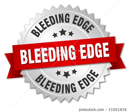 bleeding edge round isolated silver badge 31001856