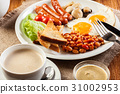 English breakfast with sausage 31002953