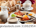 English breakfast with sausage 31002954