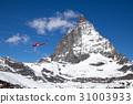 Helicopter next to Matterhorn 31003933
