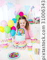 Kids birthday party with cake 31006343