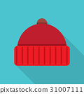 Knitted red cap 31007111