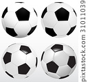 Set Of Soccer Ball, Football Vector On White 31011039