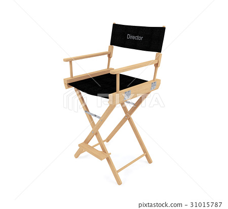 Director's chair isolated on white background 31015787