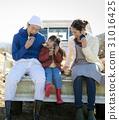family, farmer, farmhouse 31016425