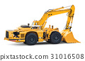 Big heavy excavator isolated on white background 31016508