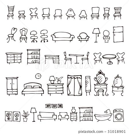 furniture, furnitures, icon 31018901