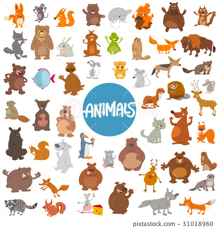 cartoon animal characters huge set 31018960