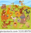 cartoon cute dogs group 31018978