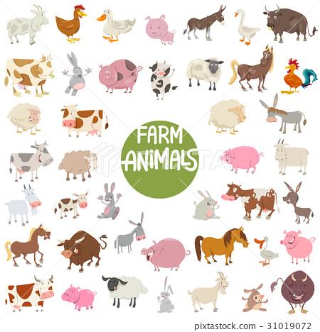 farm animal characters big set 31019072