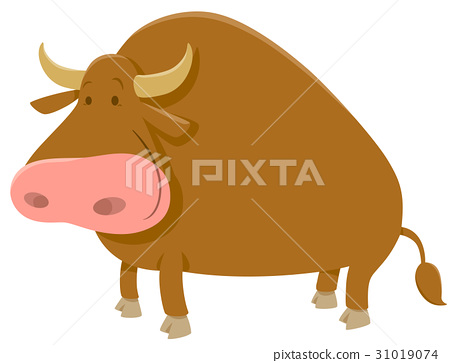 cartoon bull farm animal 31019074
