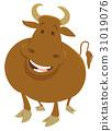 公牛 卡通 牲畜 31019076