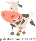 spotted cow animal character 31019079
