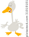 cute goose farm animal character 31019101
