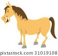 horse cartoon animal character 31019108