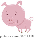 piglet farm animal character 31019110