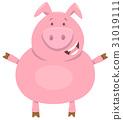 cute pig farm animal character 31019111