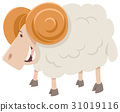 happy ram animal character 31019116