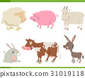 farm animal characters set 31019118