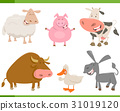 farm animal characters set 31019120