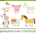 farm animal characters set 31019128