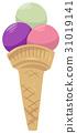 아이스크림, 콘아이스크림, 식품 31019141