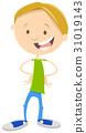 happy boy cartoon character 31019143