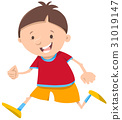 running boy cartoon character 31019147