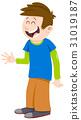 kid boy cartoon character 31019187