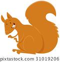 squirrel cartoon animal character 31019206